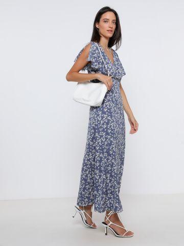 שמלת מקסי בהדפס פרחים של YANGA