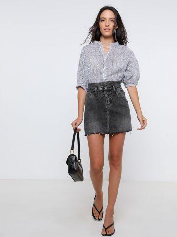 חצאית מיני ג'ינס ווש של YANGA