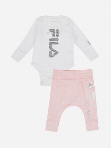 סט בגד גוף ומכנסיים עם לוגו / N.B.-12M של FILA