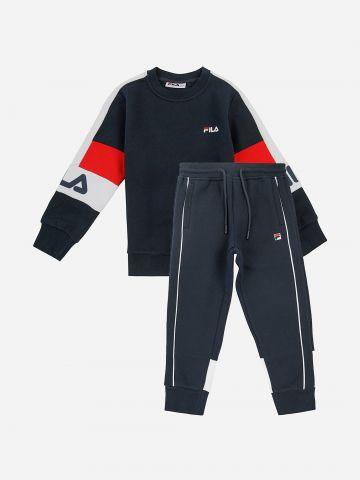 סט סווטשירט ומכנסי טרנינג עם לוגו / בנים של FILA