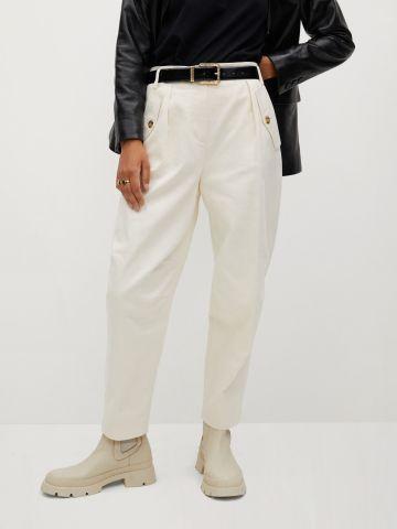 מכנסיים רחבים עם כיסים של MANGO