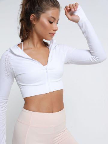 חולצת קרופ אקטיב עם שרוולים ארוכים של TERMINAL X