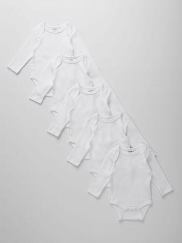 מארז 5 בגדי גוף חלקים / 0M-2Y של TERMINAL X KIDS