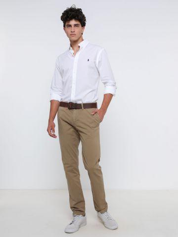 חולצה מכופתרת עם רקמת לוגו Slim-Fit של RALPH LAUREN