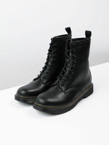 מגפיים צבאיים דמוי עור / נשים של TERMINAL X
