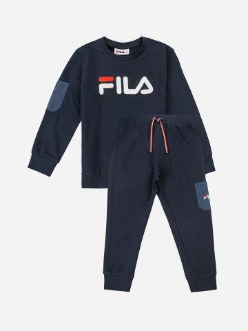 סט סווטשירט ומכנסי טרנינג פוטר עם לוגו / 6M-8Y של FILA