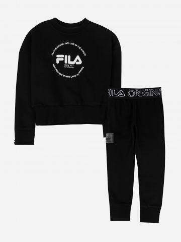 סט סווטשירט וטייץ עם לוגו / בנות של FILA