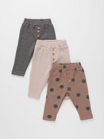 מארז 3 מכנסי וופל ארוכים / 0-2Y של TERMINAL X KIDS