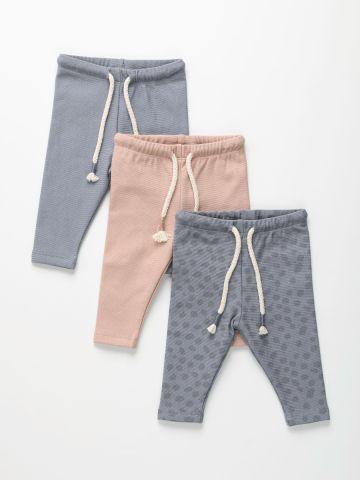 מארז 3 מכנסי פוטר עם שרוך במותן / 0M-12Y של TERMINAL X KIDS