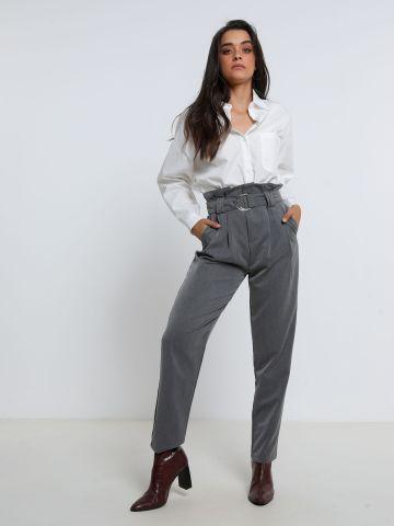 מכנסי פייפרבאג ארוכים עם כיסים של TERMINAL X