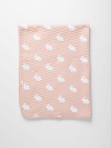 שמיכה בהדפס ארנבים / בייבי של FOX