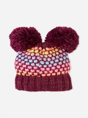 כובע צמר עם פונפונים / בנות של THE CHILDREN'S PLACE