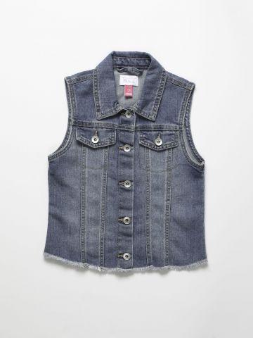 וסט ג'ינס עם כפתורים / בנות של THE CHILDREN'S PLACE