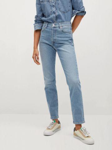 ג'ינס ארוך בגזרה גבוהה Slim-fit של MANGO