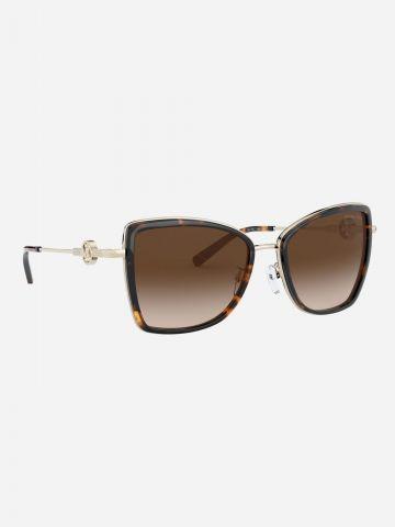 משקפי שמש מרובעים עם לוגו מטאלי / נשים של MICHAEL KORS