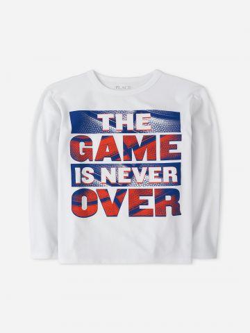 טי שירט The Game Is Never Over שרוולים ארוכים / בנים של THE CHILDREN'S PLACE