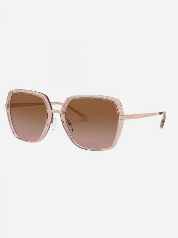 משקפי שמש מרובעים עם עדשות אומברה / נשים של MICHAEL KORS