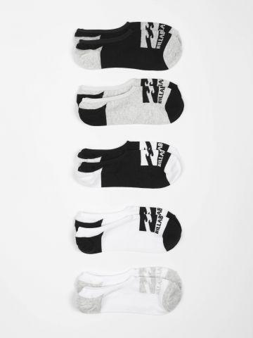 מארז 5 זוגות גרביים נמוכים עם הדפס לוגו / גברים של BILLABONG