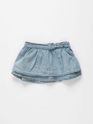 חצאית ג'ינס 2 שכבות / 3M-3Y של FOX