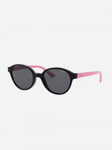 משקפי שמש עגולים עם מוטות מודגשים injected / בנות של vogue eyewear