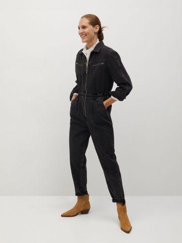 אוברול ג'ינס ארוך עם רוכסן של MANGO