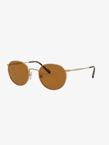 משקפי שמש עגולים עם מסגרת מתכת Metal של vogue eyewear
