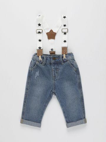 ג'ינס עם כתפיות שלייקס / 3M-3Y של FOX