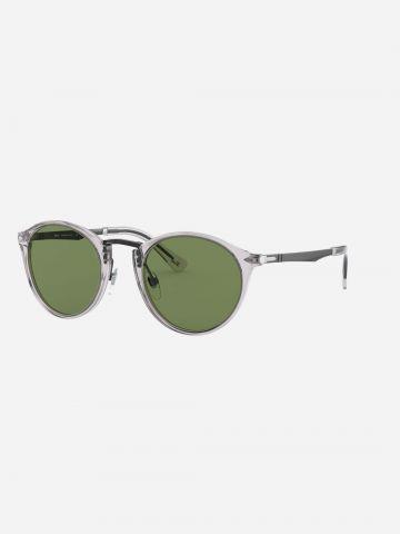 משקפי שמש עגולים מסגרת שקופה / גברים של PERSOL