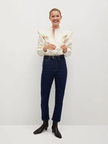 ג'ינס בגזרת קרופ של MANGO