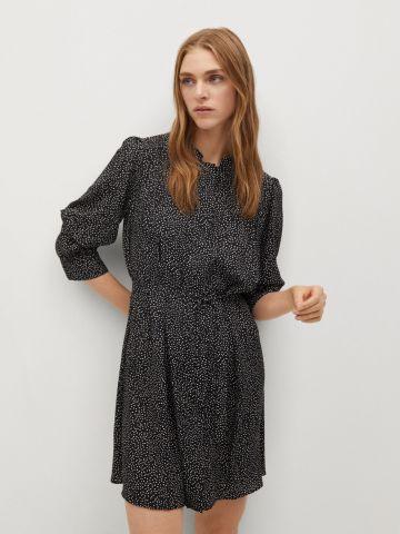 שמלת מיני בהדפס נקודות של MANGO