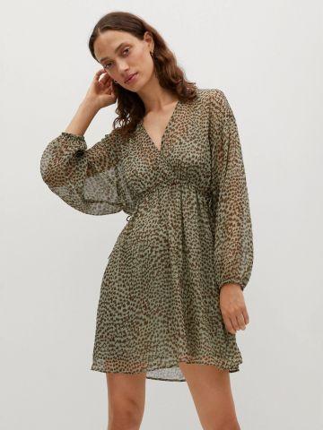שמלת מיני בהדפס חברבורות של MANGO