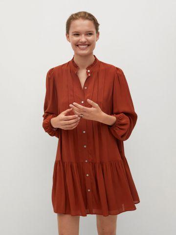 שמלת פפלום בשילוב קפלים של MANGO