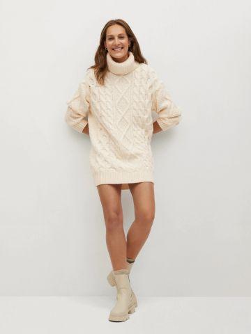 שמלת סוודר צווארון גולף של MANGO