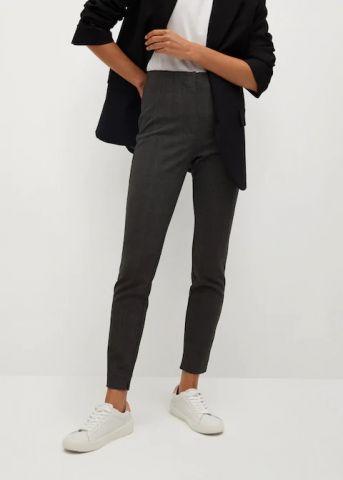 מכנסיים אלסטיים בגזרה ישרה של MANGO