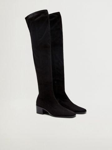 מגפיים דמוי זמש גבוהים / נשים של MANGO