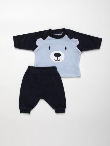 סט מכנסיים וחולצה בדוגמת דובי / N.B-18M של FOX