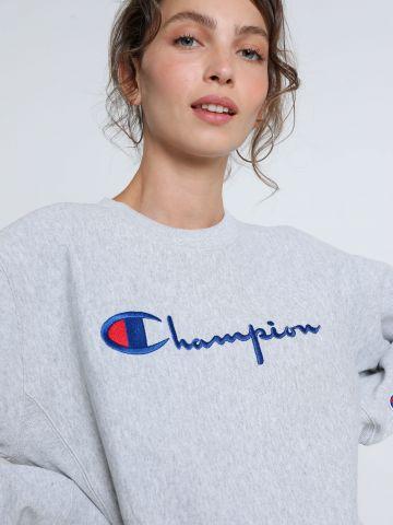 סווטשירט עם רקמת לוגו של CHAMPION