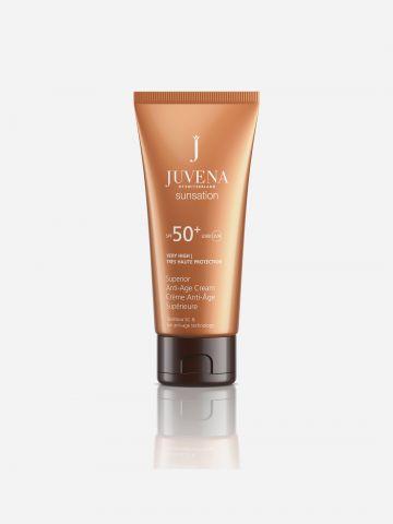 קרם הגנה לפנים Sunsation Superior Anti-Age Cream SPF 50+ של JUVENA