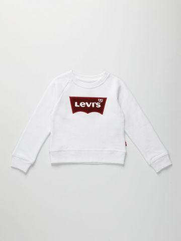 סווטשירט עם רקמת לוגו / בנות של LEVIS