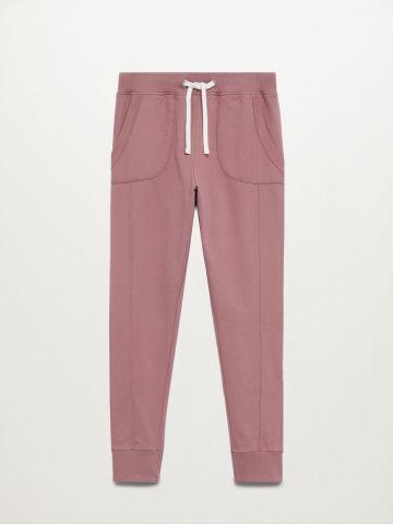 מכנסי טרנינג עם תיפורים / בנות של MANGO
