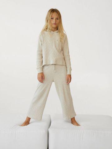 מכנסי סריג בגזרה ישרה של MANGO