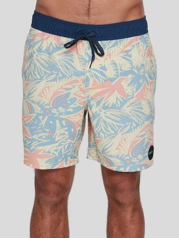 מכנסי בגד ים בהדפס עלים / גברים של RVCA