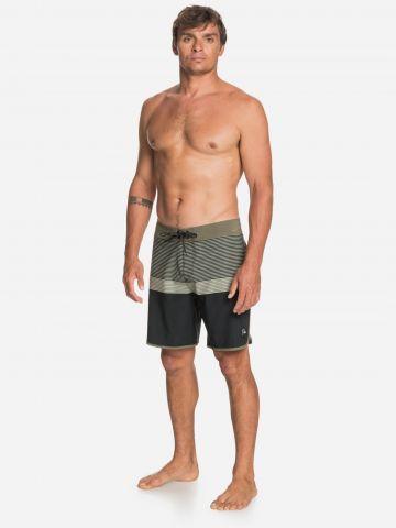 מכנסי בגד ים קולור בלוק פסים של QUIKSILVER