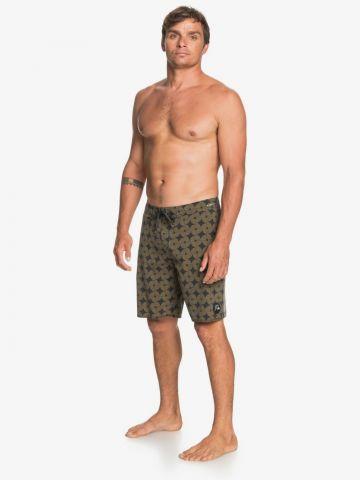 מכנסי בגד ים בהדפס ספירלה של QUIKSILVER