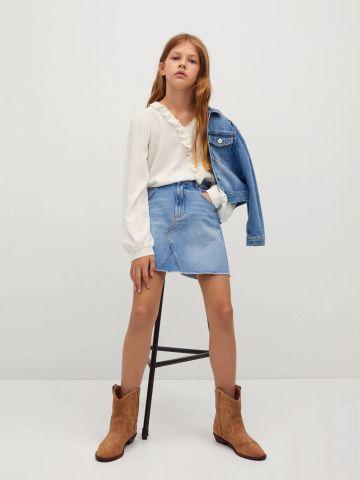 חצאית מיני ג'ינס / בנות של MANGO