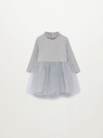 שמלת ריב עם חצאית טול / 9M-4Y של MANGO