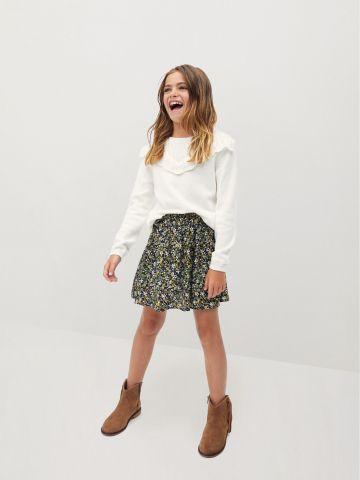 חצאית מיני בהדפס פרחים / בנות של MANGO