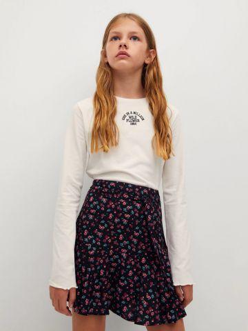 חצאית בהדפס פרחים של MANGO