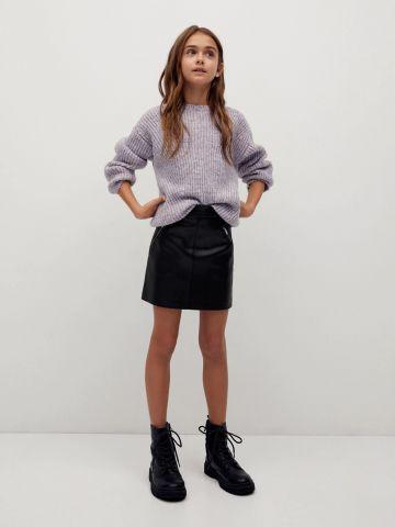 חצאית מיני דמוי עור / בנות של MANGO