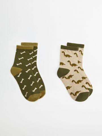 מארז 2 זוגות גרביים בהדפס / בנים של MANGO